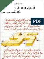 Albert Camus-Lettres a Un Ami Allemand(1948)