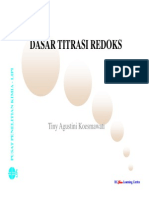 Dasar Titrasi Redoks [Compatibility Mode]