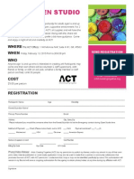 ACT Adult Open Studio Flier & Registration