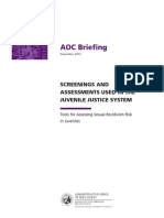 AOC Briefing 2012 Juvenile Sex Offender Risk