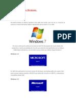 La Evolución de Windows