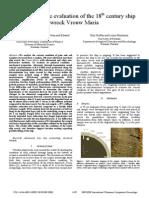 Non-destructive evaluation of the 18th century ship wreck Vrouw Maria
