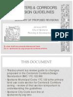 Summary Centers Corridors Design Guidelines