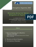 Situación Energética Argentina 2005