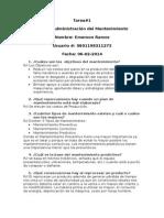 Tarea #1 Administracion del Mantenimiento.docx
