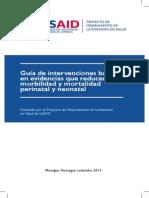 Guía de Intervenciones Basada en Evidencias que reducen Morbilidad y Mortalidad Perinatal y Neonatal