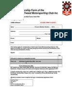 GCTMC Membership Form2015