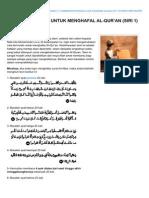 Arabmykrk.com-teknik Berkesan Untuk Menghafal Alquran Siri 1