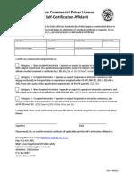 Texas CDL Self-Certification Affidavit CDL-7