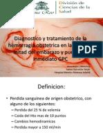 Hemorragia en Segunda Midad Embarazo y Puerperio