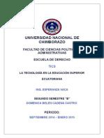 Tecnología en La Educación Superior Del Ecuador