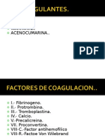 Anticoagulantes II