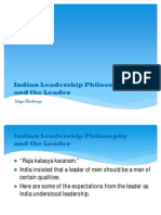 Indian Leadership Philosophy and the Leader