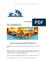 Factors Affecting Oil Palm EFB Pellet Price