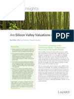 Are Silicon Valley Valuations In The Clouds Lazard Insights