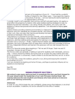 newsletter for parentsnew - template