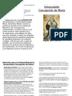 Moniciones Para La Solemnidad de La Inmaculada Concepción de María
