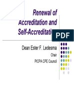 Renewal of Accreditation and Self-Accreditation by Dean Ester F. Ledesma