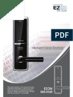 SHS 5120 Samsung Ezon Incuietoare Cititor Cartele Cod Manual Instalare