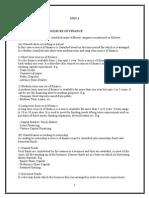 Unit 4 Sources of Finance