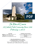 Saint Rita Parish Bulletin 2/1/2015