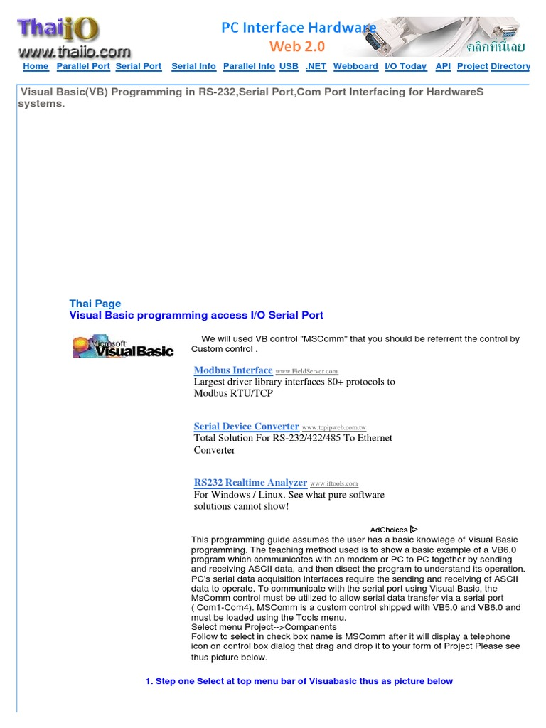 Cgi 0002 Serial Mscomm Software Engineering Computing Rs232 Port Pic Programmer