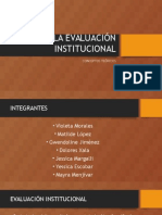 la evaluacion institucional