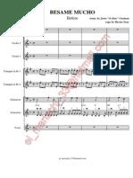 Besame Mucho - Score
