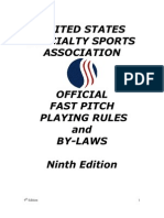 USSSA 2010 FP Rules