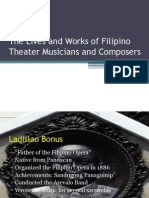 The Lives and Works of Filipino Theater Musicians