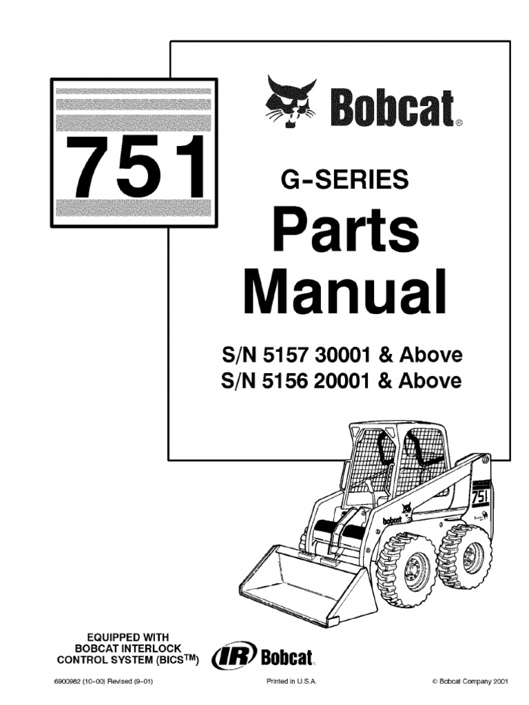 PDF Bobcat 751 Parts Manual Sn 515730001 and Above Sn 515620001 and Above  sc 1 st  Scribd & PDF Bobcat 751 Parts Manual Sn 515730001 and Above Sn 515620001 and ...