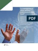 La transparencia como política pública en el nivel local