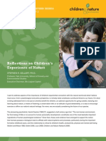 Reflections on Children's Experience of Nature
