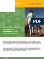 Shared Nature Experience as a Pathway to Strong Family Bond