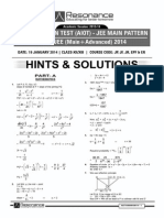 Aiot Main Xii Syllabus Paper Code 0-19-01 2014 Sol