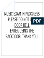 Don't use door bell