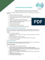 Pharmacy Board Procedures Procedures for Extemporaneous Dispensing
