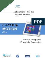 Motion Computing C5m Datasheet