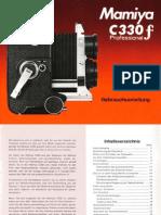 Mamiya C330 Professional f Handbuch