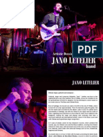 ENG / Jano Letelier Band Dossier 2015