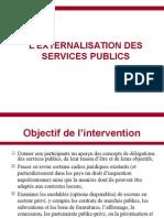 Externalisation Des Services Publics