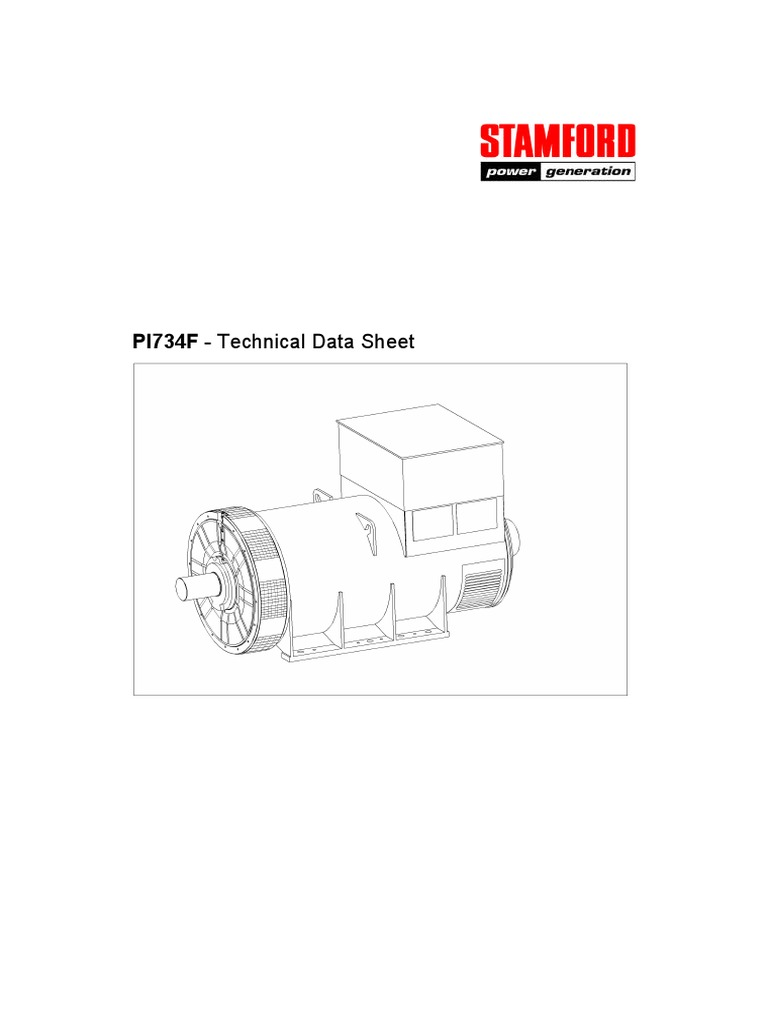 Stamford Pi734f Physical Quantities Electrical Engineering Newage Generator Wiring Diagram