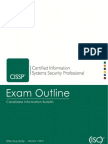 CISSP CIB Exam Outline