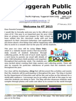 Class Letter - Welcome