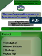 03_T1B_Water and Sanitation Requirements for Environmentally Sustainable Yangon City_Kyaw