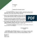 Affidavit of Publication (Practice Court)