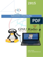 Implementation of Band-Stop Filter in GNU Radio
