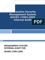 ISO 27001-2005 Internal Audit Course