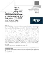 Hoppe T. Disparate risks of conviction under Michigan's felony HIV disclosure law