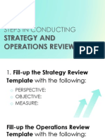 Steps in Conducting Strategy Operations Review